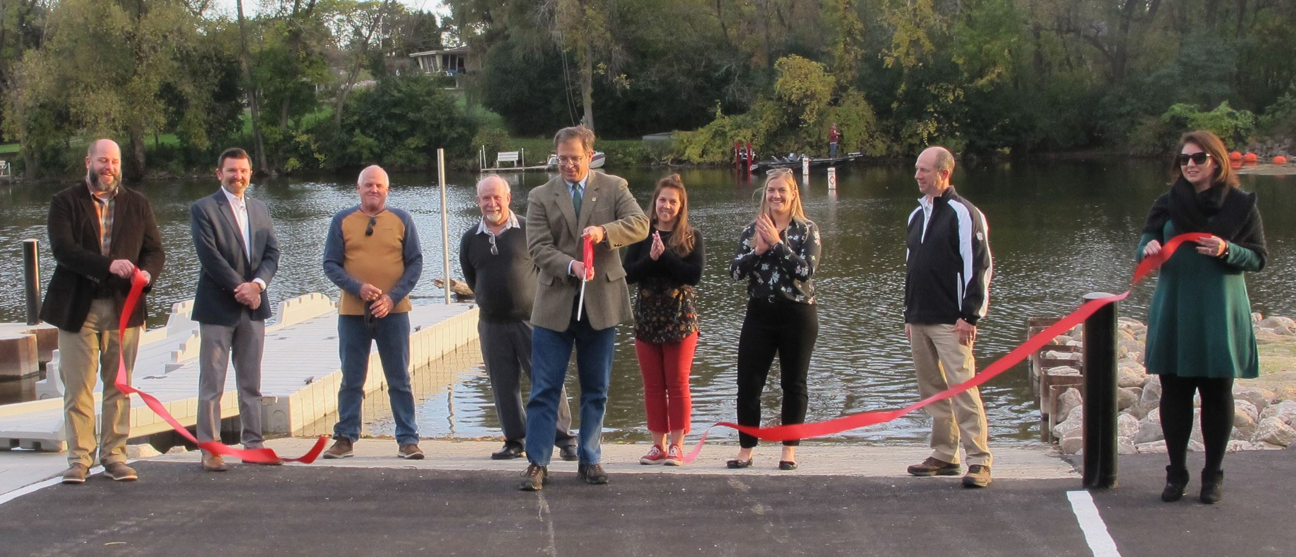 Boat Launch Ribbon-Cutting 10-6-20