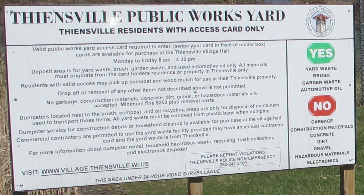 Yard Waste Site - Sign